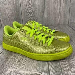 PUMA Metallic Neon Yellow Sneakers